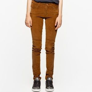 Zadig + Voltaire Velvet Camel Pants Size 36